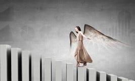 Κορίτσι αγγέλου στο φόρεμα Στοκ εικόνες με δικαίωμα ελεύθερης χρήσης