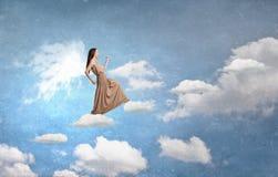 Κορίτσι αγγέλου στο φόρεμα Στοκ Εικόνες