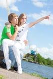 κορίτσι αγοριών Στοκ Εικόνες
