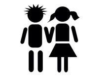 κορίτσι αγοριών Στοκ φωτογραφία με δικαίωμα ελεύθερης χρήσης