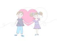 Κορίτσι αγοριών ANS ερωτευμένο Στοκ Εικόνα