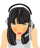 κορίτσι ακουστικών απεικόνιση αποθεμάτων