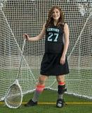 Κορίτσι λακρός goalie Στοκ φωτογραφία με δικαίωμα ελεύθερης χρήσης