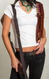 Κορίτσι ακτών με ένα πυροβόλο όπλο 13 Στοκ Εικόνα