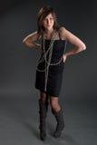 κορίτσι αλυσίδων Στοκ εικόνα με δικαίωμα ελεύθερης χρήσης