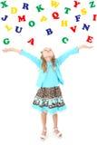 κορίτσι αλφάβητου στοκ εικόνες