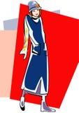 κορίτσι αναδρομικό Στοκ εικόνα με δικαίωμα ελεύθερης χρήσης