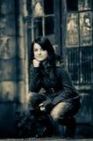 κορίτσι αναδρομικό Στοκ Εικόνες