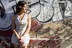 κορίτσι αναδρομικό Στοκ Εικόνα