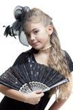 κορίτσι ανεμιστήρων λίγα Στοκ φωτογραφίες με δικαίωμα ελεύθερης χρήσης