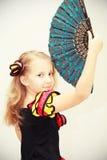 κορίτσι ανεμιστήρων χορευτών Στοκ φωτογραφία με δικαίωμα ελεύθερης χρήσης