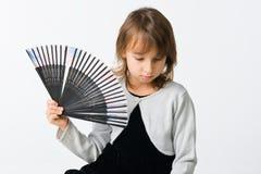 κορίτσι ανεμιστήρων όμορφ&omic Στοκ εικόνα με δικαίωμα ελεύθερης χρήσης