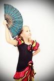 κορίτσι ανεμιστήρων Στοκ φωτογραφία με δικαίωμα ελεύθερης χρήσης