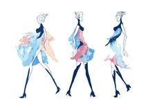 Κορίτσι απεικόνισης μόδας Στοκ φωτογραφίες με δικαίωμα ελεύθερης χρήσης