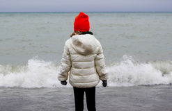 Κορίτσι από τη λίμνη στοκ εικόνες
