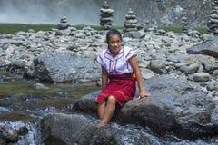 Κορίτσι από τη εθνική μειονότητα Ifugao στις Φιλιππίνες Στοκ φωτογραφίες με δικαίωμα ελεύθερης χρήσης
