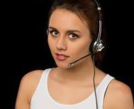 Κορίτσι από τις εξυπηρετήσεις πελατών Στοκ Εικόνες