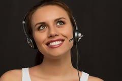 Κορίτσι από τις εξυπηρετήσεις πελατών Στοκ φωτογραφία με δικαίωμα ελεύθερης χρήσης