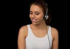 Κορίτσι από τις εξυπηρετήσεις πελατών Στοκ εικόνα με δικαίωμα ελεύθερης χρήσης