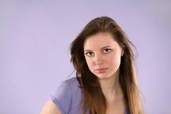 κορίτσι αρκετά πορφυρό Στοκ φωτογραφία με δικαίωμα ελεύθερης χρήσης