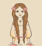 Κορίτσι. Αστρολογικό σημάδι Στοκ Φωτογραφία