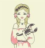 Κορίτσι. Αστρολογικό σημάδι Στοκ Εικόνες