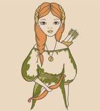 Κορίτσι. Αστρολογικό σημάδι Στοκ φωτογραφία με δικαίωμα ελεύθερης χρήσης