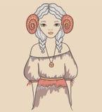 Κορίτσι. Αστρολογικό σημάδι Στοκ εικόνα με δικαίωμα ελεύθερης χρήσης