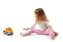 κορίτσι αυτοκινήτων λίγα Στοκ φωτογραφία με δικαίωμα ελεύθερης χρήσης