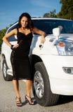 κορίτσι αυτοκινήτων Στοκ Φωτογραφία