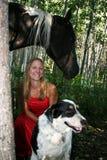 Κορίτσι αλόγων Στοκ φωτογραφία με δικαίωμα ελεύθερης χρήσης