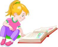 κορίτσι βιβλίων απεικόνιση αποθεμάτων