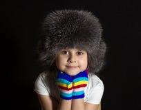 Κορίτσι σε μια ΚΑΠ Στοκ Εικόνες