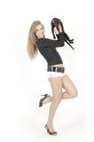 κορίτσι γατών αρκετά νέο Στοκ φωτογραφία με δικαίωμα ελεύθερης χρήσης