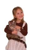 κορίτσι γατών Στοκ φωτογραφία με δικαίωμα ελεύθερης χρήσης
