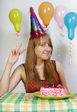 κορίτσι γενεθλίων ευτυχές Στοκ εικόνες με δικαίωμα ελεύθερης χρήσης