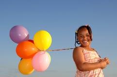 κορίτσι γενεθλίων ευτυ Στοκ Εικόνες