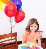 Κορίτσι γενεθλίων Στοκ Φωτογραφία