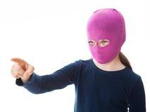 Κορίτσι γκάγκστερ που δίνει την κατεύθυνση Στοκ φωτογραφία με δικαίωμα ελεύθερης χρήσης