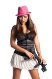 κορίτσι γκάγκστερ προκλ Στοκ εικόνες με δικαίωμα ελεύθερης χρήσης
