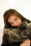 κορίτσι γουνών Στοκ Φωτογραφίες