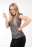 Κορίτσι γυαλιά Στοκ φωτογραφία με δικαίωμα ελεύθερης χρήσης