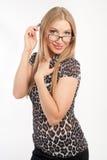 Κορίτσι γυαλιά Στοκ φωτογραφίες με δικαίωμα ελεύθερης χρήσης