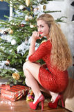 Κορίτσι Δεκεμβρίου στοκ φωτογραφία