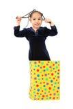 κορίτσι δώρων τσαντών ευτ&upsilo στοκ εικόνα με δικαίωμα ελεύθερης χρήσης