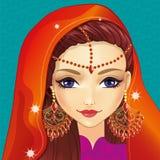 Κορίτσι ειδώλων με ινδικό Makeup ελεύθερη απεικόνιση δικαιώματος