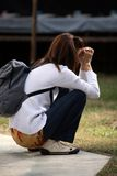 κορίτσι εκκλησιών στοκ φωτογραφία
