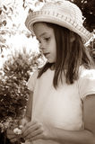 κορίτσι ελάχιστα σοβαρά Στοκ φωτογραφία με δικαίωμα ελεύθερης χρήσης