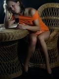 κορίτσι ερωτοχτυπημένο Στοκ φωτογραφία με δικαίωμα ελεύθερης χρήσης