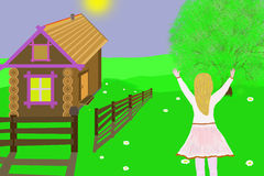 κορίτσι ευτυχές απεικόνιση Στοκ Φωτογραφία